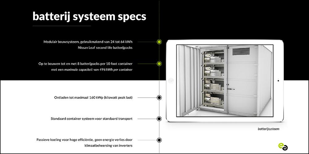 batterij systeem specificaties